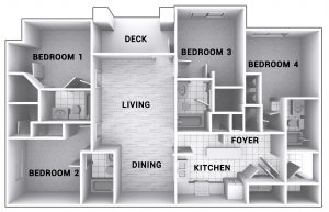 4 bedroom apartment layout